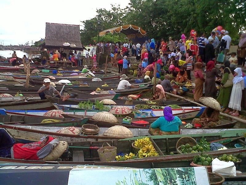 Nafilah Myblog Pasar Terapung Indonesia Foto Siring Kab Banjarmasin