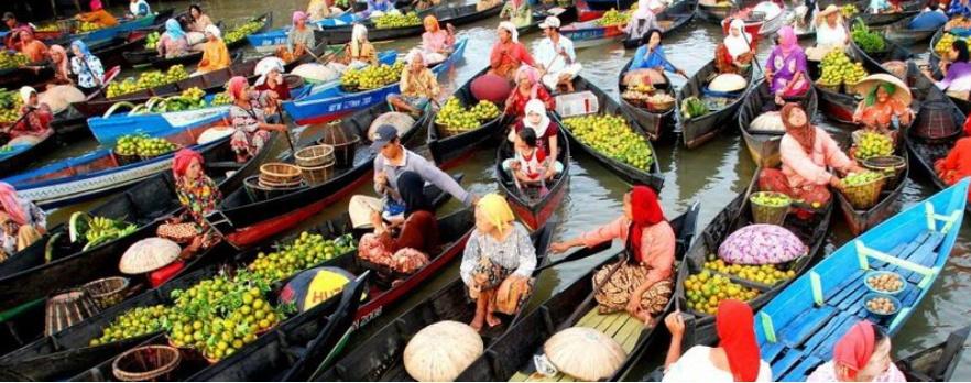 Pasar Terapung Indonesia Wisata Dictio Community Setahu Tempat Tertentu Kebanyakan