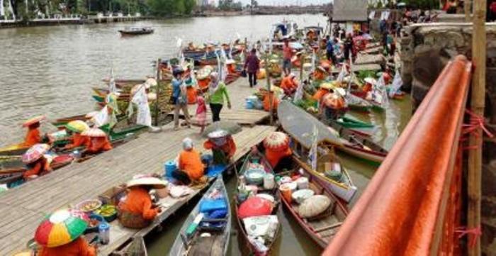 Pasar Terapung Mampu Pikat Wisatawan Buatan Dinas Pariwisata Banjarmasin Berada