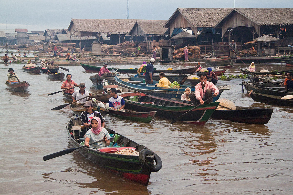 Pasar Terapung Wikipedia Bahasa Indonesia Ensiklopedia Bebas Siring Kab Banjarmasin