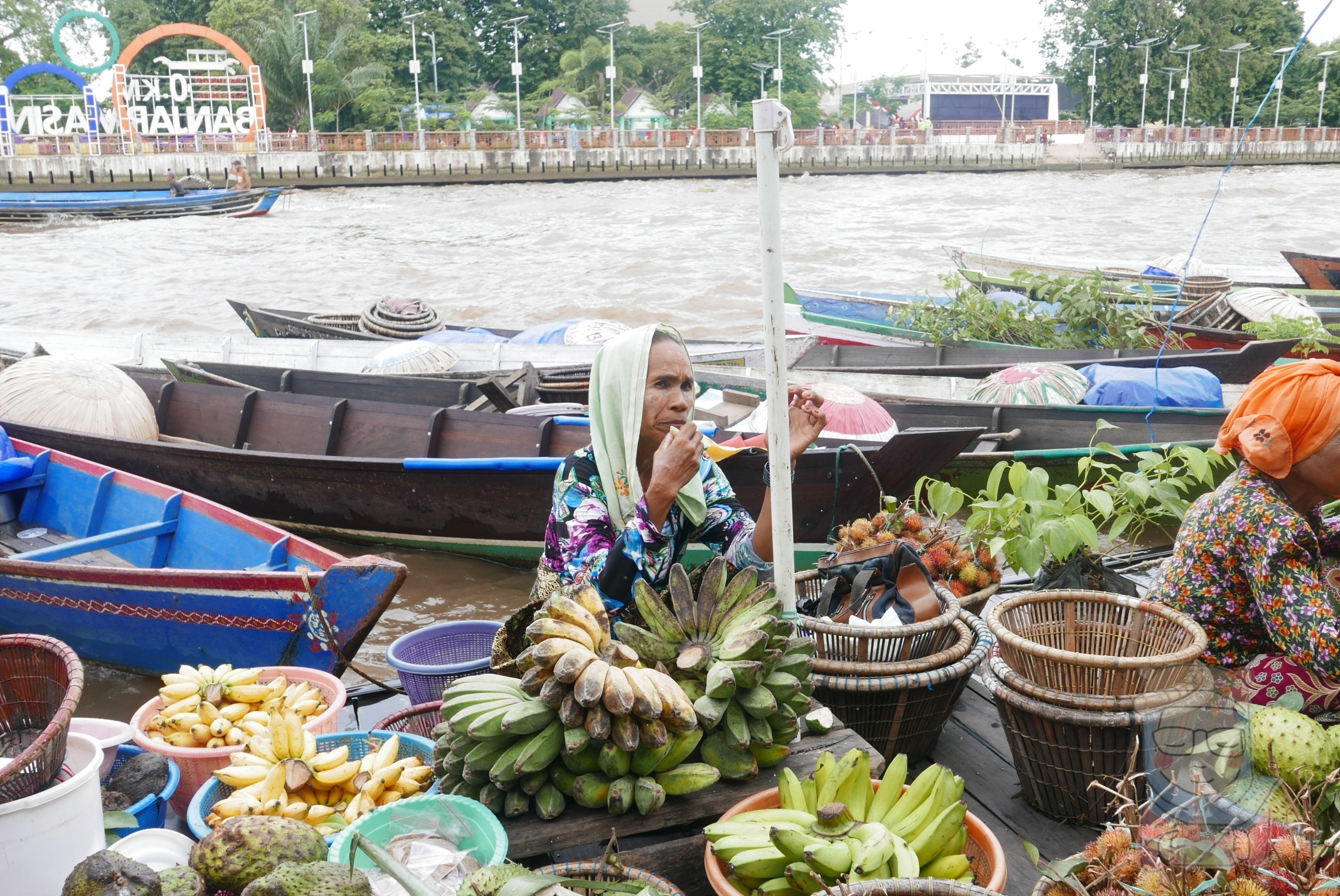 Serunya Belanja Pasar Terapung Lok Baintan Banjar Betania Gian Penampakan