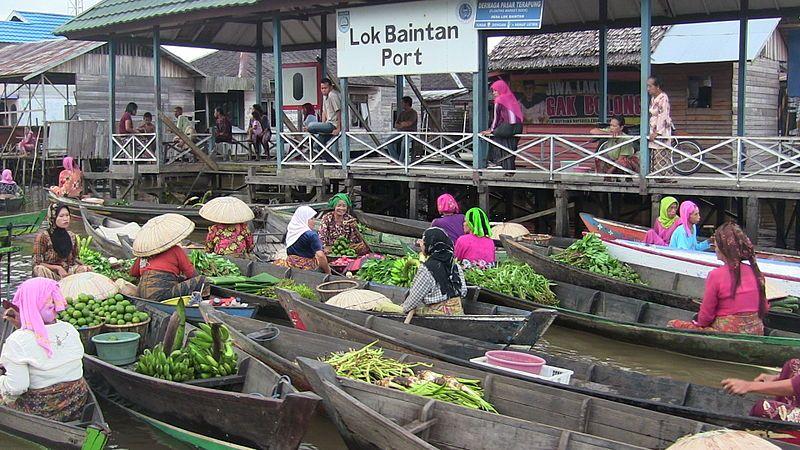 Tempat Wisata Banjarmasin Pasar Terapung Siring Kab
