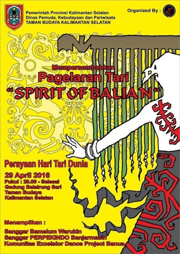Tari Dunia Kalimantan Selatan Hari Taman Budaya Kab Banjarmasin
