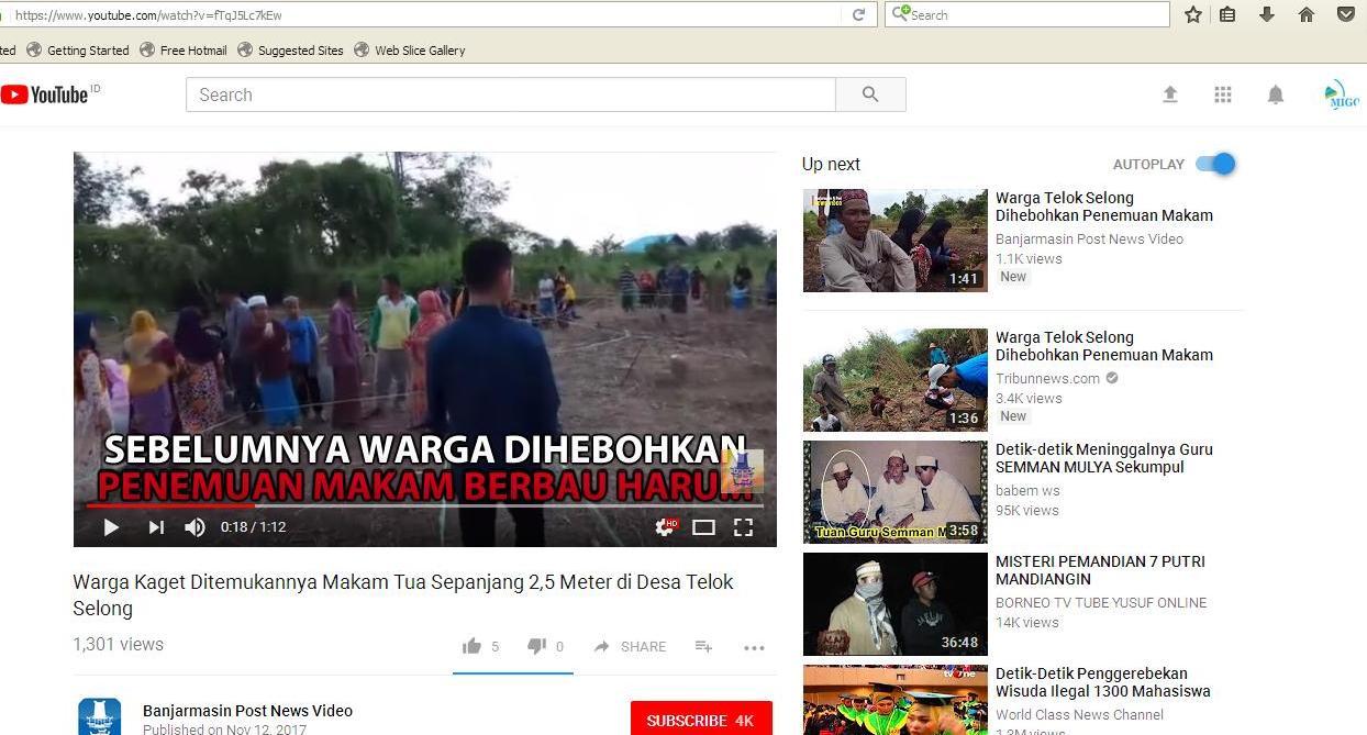Penziarah Areal Makam Tua Desa Telok Selong Kecamatan Pasca Penemuan