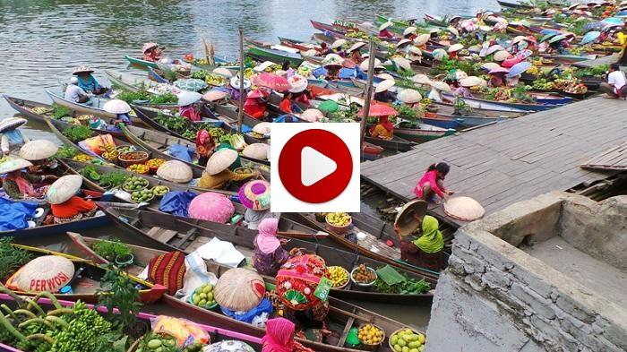 Pesona Pasar Terapung Siring Tendean Banjarmasin Post Taman Sungai Martapura
