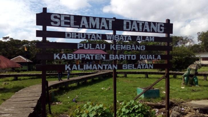 Pulau Kembang Wisata Banjarmasin Kalsel Selamat Datang Taman Siring Sungai
