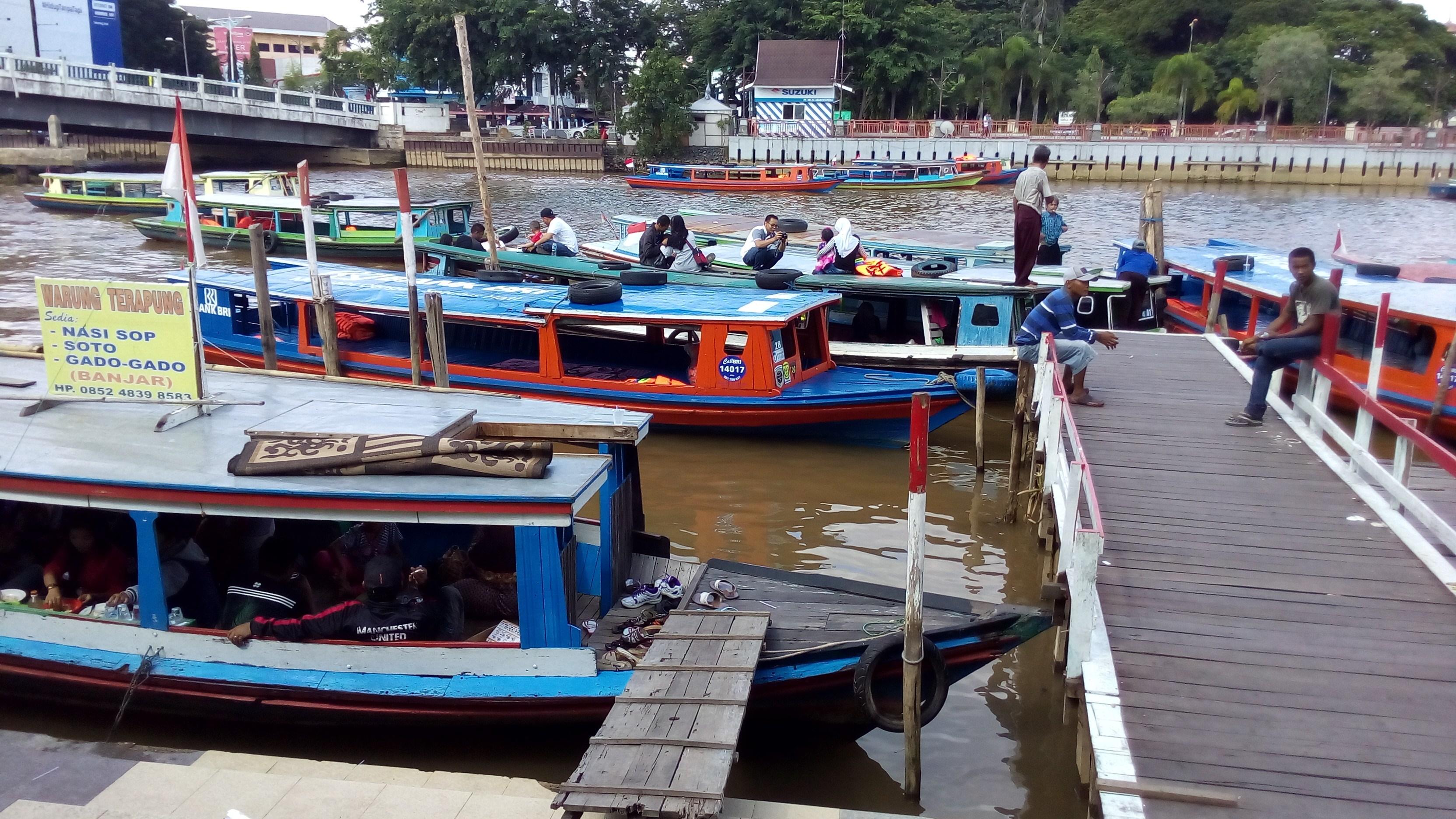 Pulau Kembang Wisata Banjarmasin Kalsel Taman Siring Sungai Martapura Kab