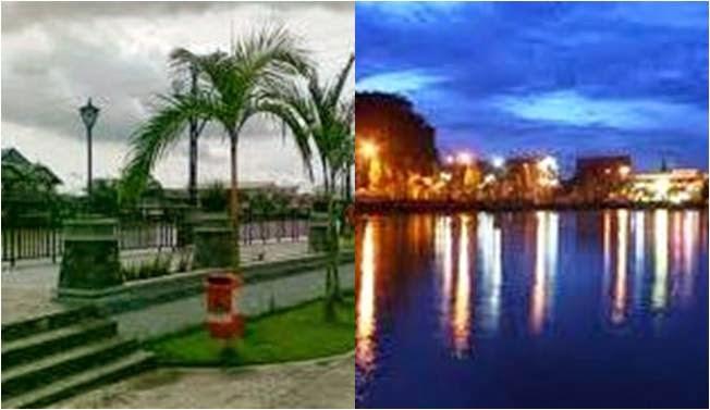 Taman Siring Sungai Martapura Banjarmasin Kalimantan Selatan Kab