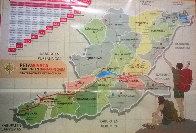 Wisata Buatan Alam Kabupaten Banjarnegara Peta Anglir Mendung Kab
