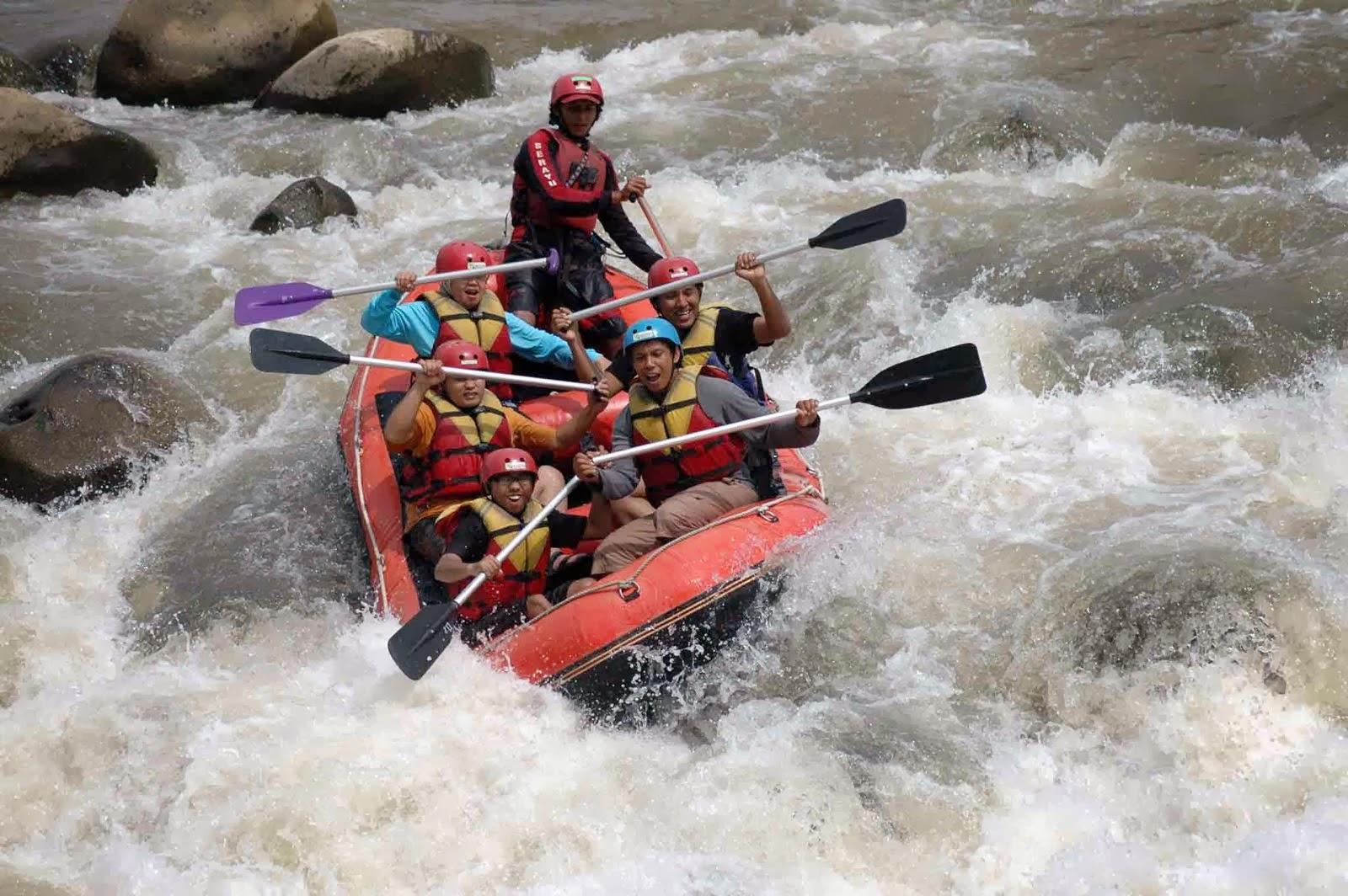 Serunya Rafting Sungai Serayu Banjarnegara Arum Jeram Kab