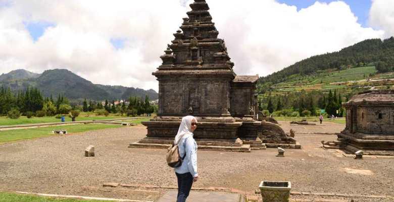 Komplek Candi Arjuna Obyek Wisata Dieng Percandian Kab Banjarnegara