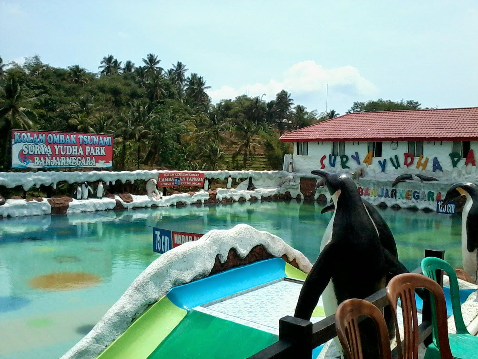 Indahnya Surya Yudha Park Banjarnegara Catatan Lepas Kolam Ombak Tsunami