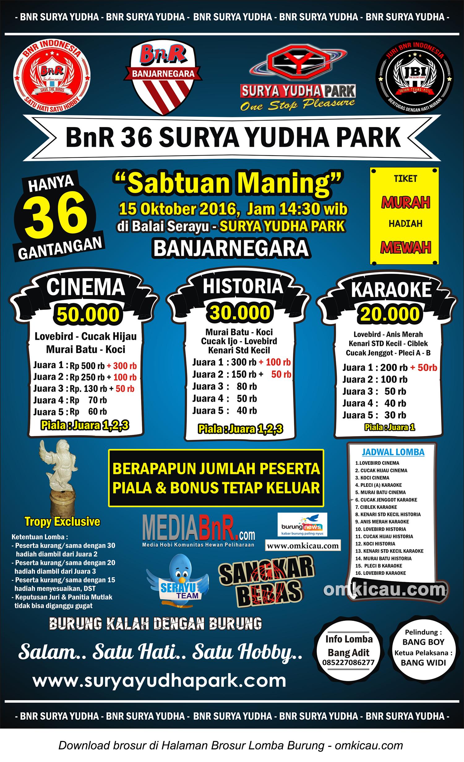 Latber Sabtuan Maning Bnr 36 Surya Yudha Park Banjarnegara 15