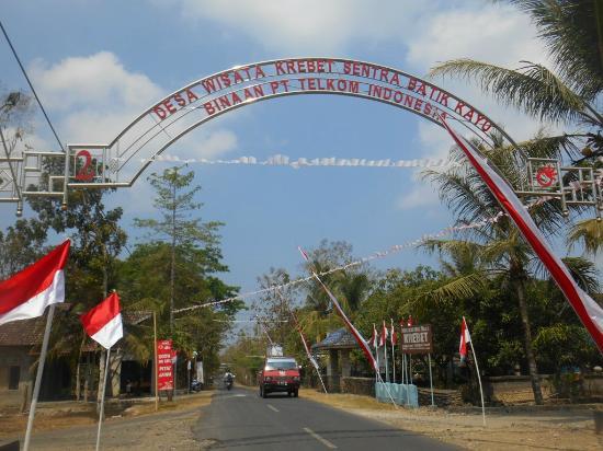 Gapura Desa Wisata Krebet Picture Bantul Batik Village Kayu Kab