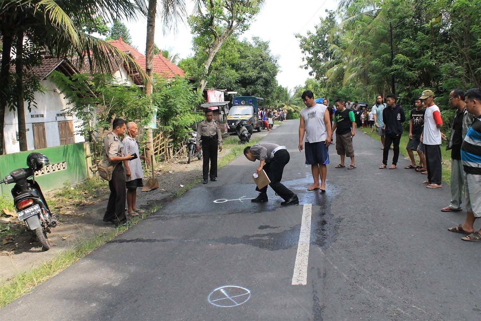Unit Laka Polres Bantul Tangani Kecelakaan Goa Selarong Kab