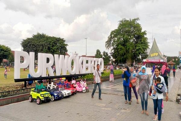 Alun Purwokerto Spot Selfie Air Mancur Kota Mendoan Bon Kab