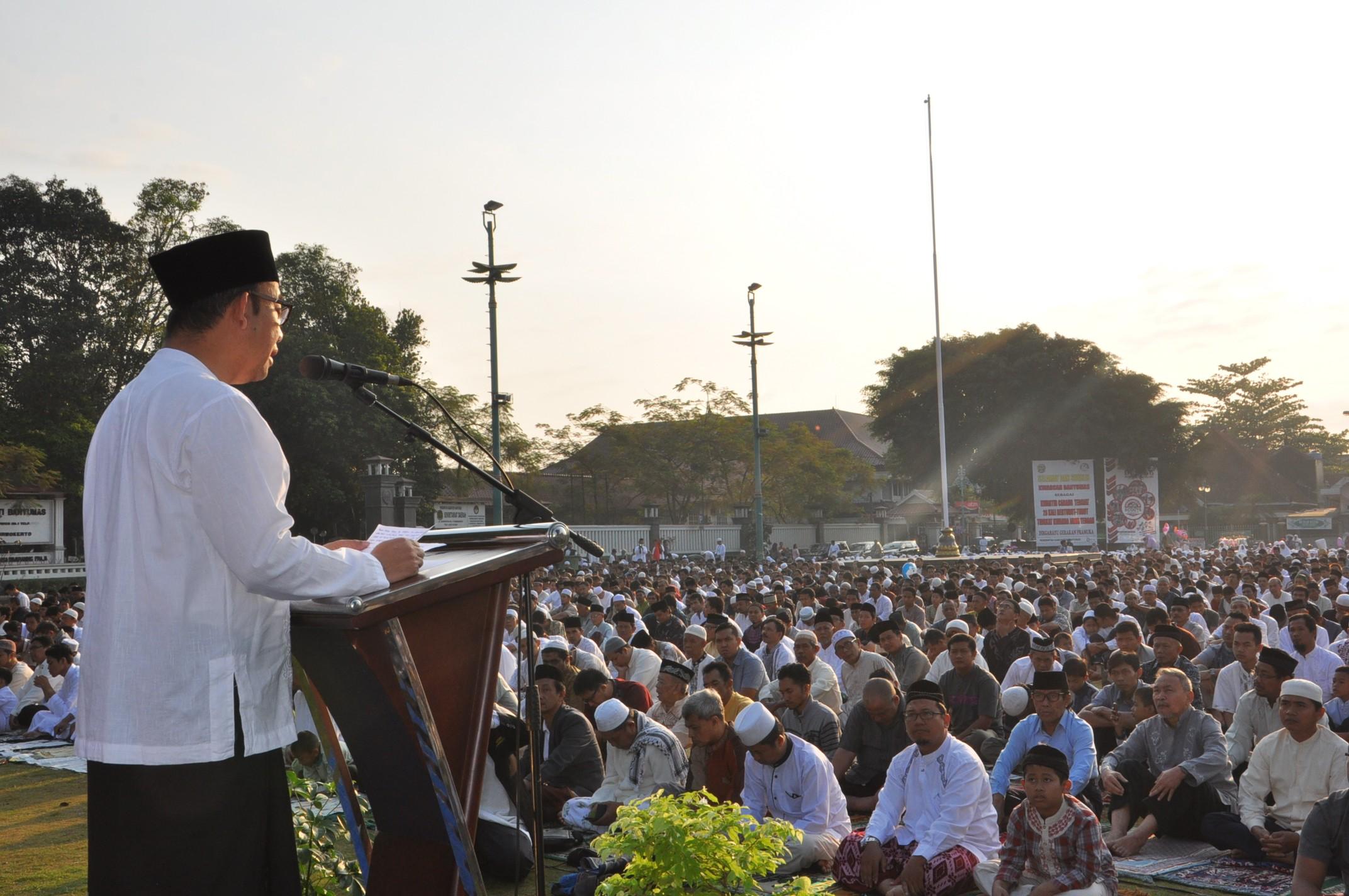 Phbi Banyums Gelar Sholat Idul Adha Alun Purwokerto Kabupaten Banyumas