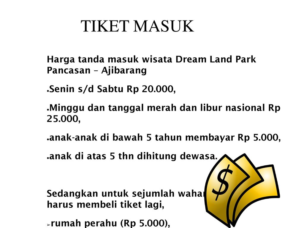 Dream Land Water Park Ajibarang Ppt Download Tiket Masuk Harga