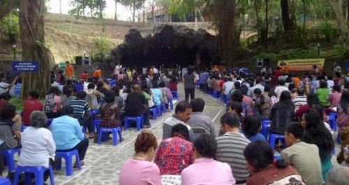 Ribuan Umat Katolik Ikuti Pembukaan Novena Gua Maria Berita Goa