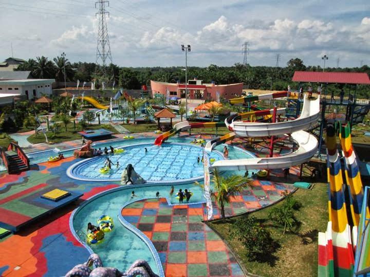 25 Tempat Wisata Pekanbaru Riau Sekitarnya Objek Pantai Boombara Waterpark