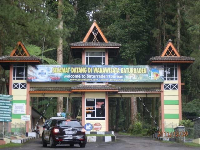 Kebun Raya Baturaden Purwokerto Jawa Tengah Pintu Masuk Wanawisata Https