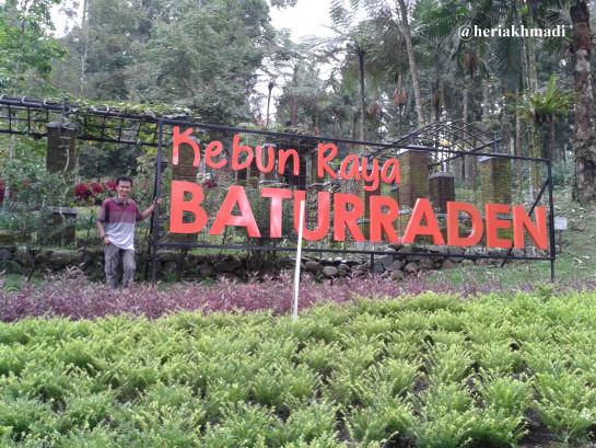 Kebun Raya Baturraden Blog Pak Heri Plang Nama Depan Kab