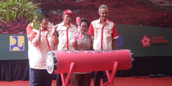 Megawati Resmikan Kebun Raya Baturraden Banyumas Merdeka Kab