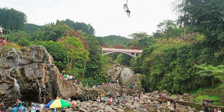 Gubernur Jateng Baturraden Aman Dikunjungi Wisatawan Kompas Situasi Lokawisata Baturaden