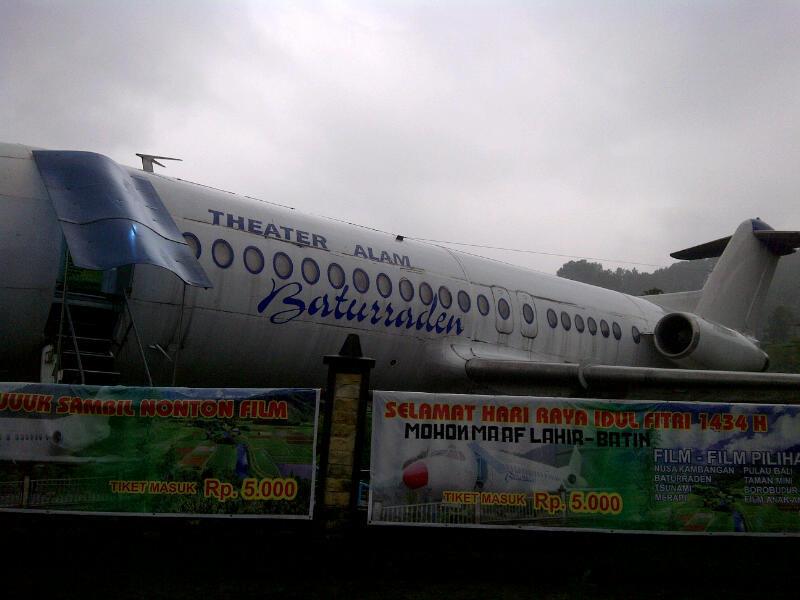 Unik Bioskop Berbentuk Pesawat Baturraden Lokawisata Kab Banyumas
