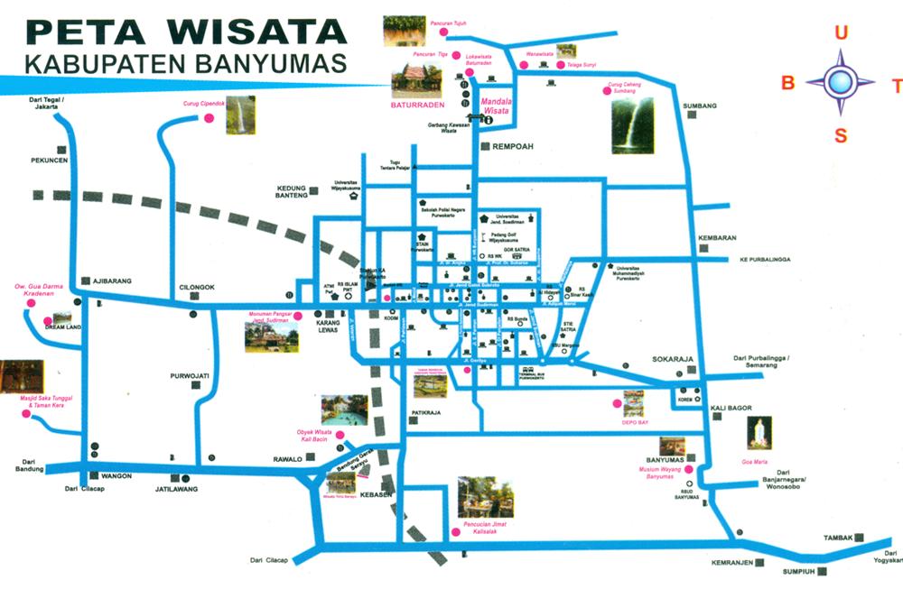 Obyek Wisata Baturaden Pemerintah Kabupaten Banyumas Peta Mandala Baturraden Kab