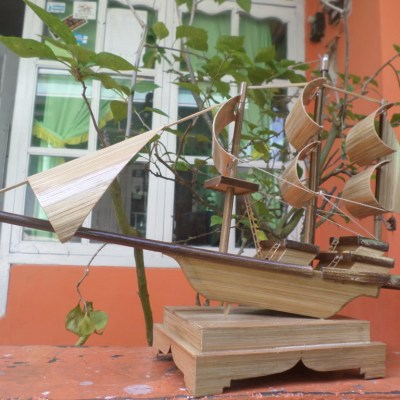 Sangkar Burung Gondrong Desa Dermaji Kerajinan Kapal Bambu Miniatur Rumah