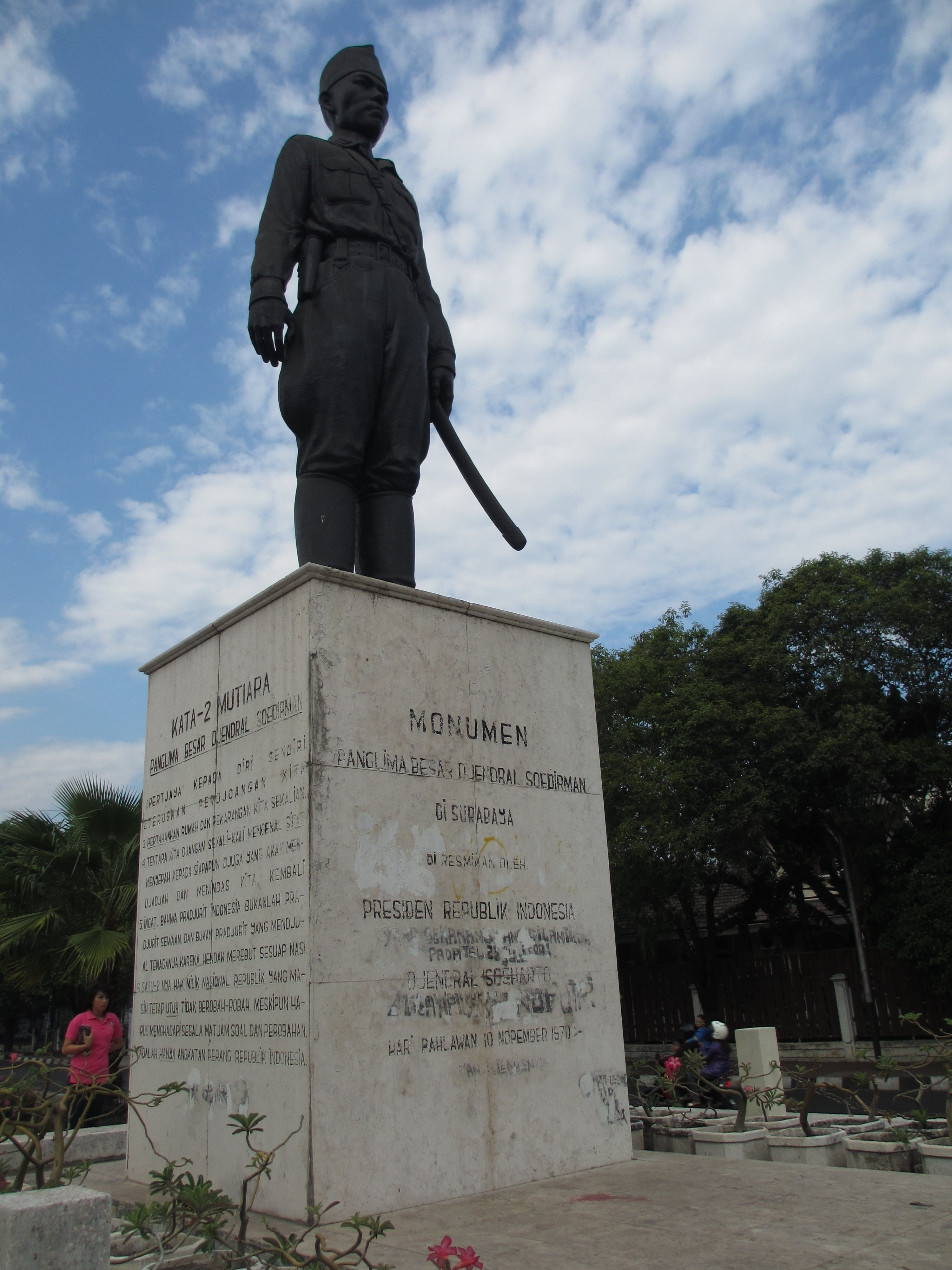 Alun Purwokerto Banyumas Jawa Tengah Monument Panglima Besar Jenderal Soedirman