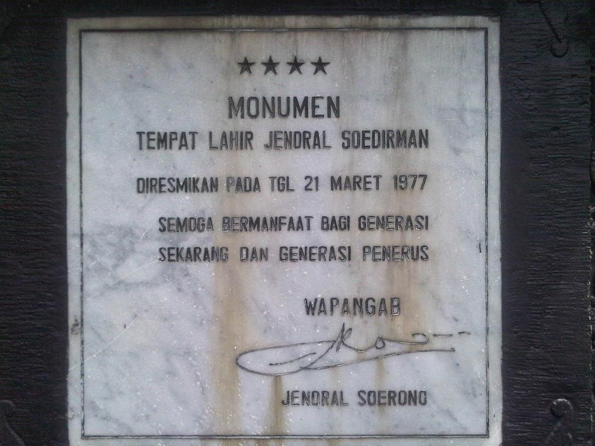 Museum Jenderal Soedirman Purbalingga Indonesia Bintang Empat Panglima Besar Jendral