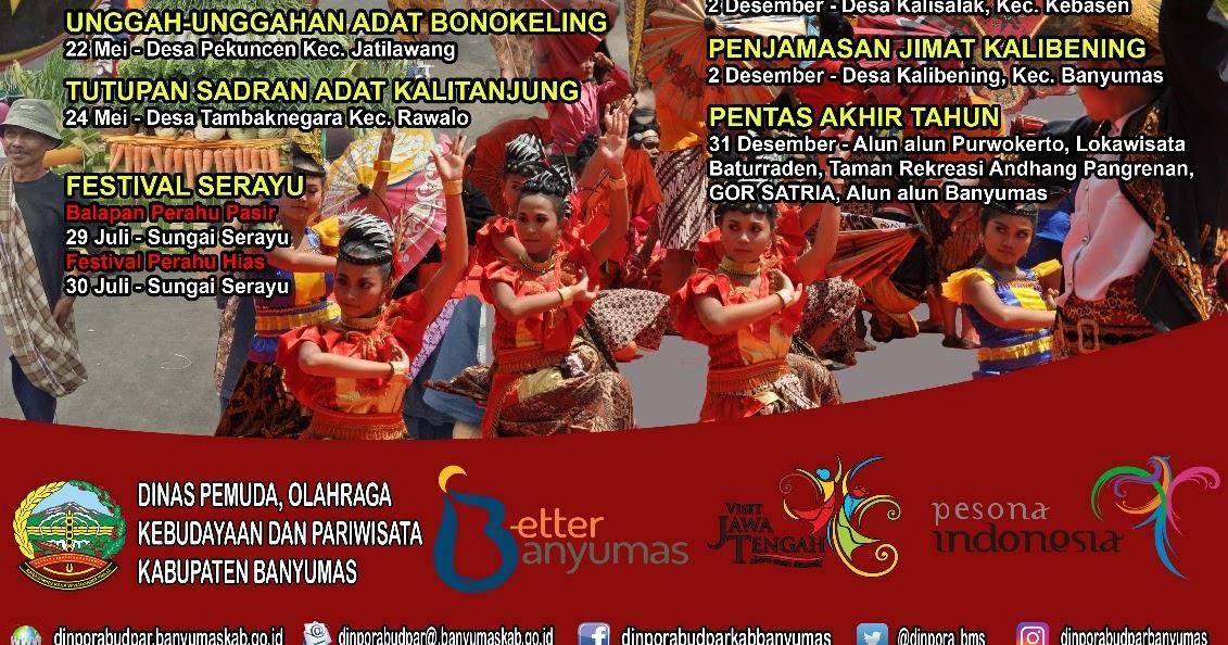 Love Purwokerto 20 Agenda Event Wisata Kabupaten Banyumas 2017 Taman