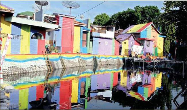 Rute Lokasi Sungai Kalilo Banyuwangi Indahnya Perkampungan Kampung Warna Warni