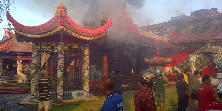 Dibangun 1784 Kelenteng Ho Tong Bio Banyuwangi Ludes Terbakar Klenteng