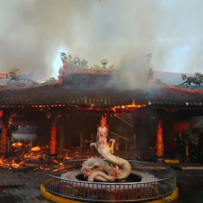 Hoo Tong Bio Banyuwangi Ludes Terbakar Klenteng Kab