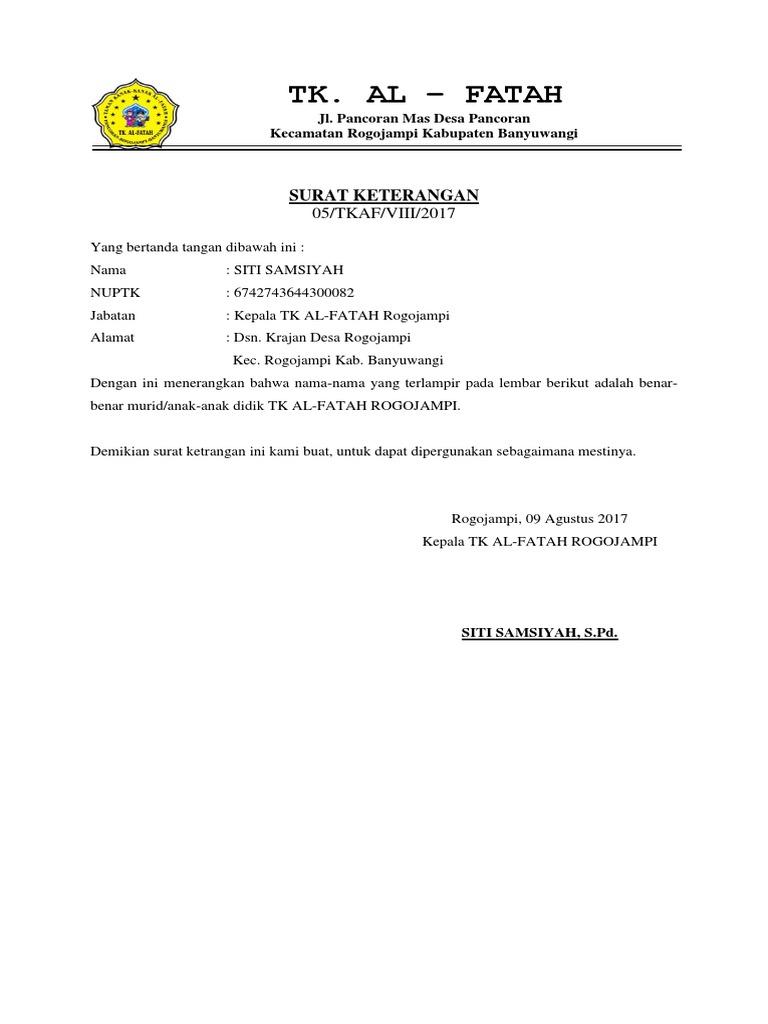 Kia Al Fatah Docx Pancoran Kab Banyuwangi