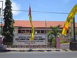 Rogojampi Banyuwangi Wikipedia Bahasa Indonesia Ensiklopedia Bebas Peta Lokasi Kecamatan