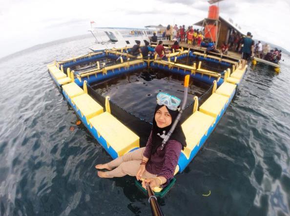 Destinasi Jalan Menuju Pantai Bangsring Underwater Banyuwangi Wisata Rumah Apung