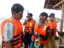 Ekspedisi Pantai Bangsring Lutfianawhite Kecamatan Wongsorejo Kabupaten Banyuwangi Jawa Timur