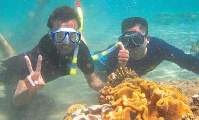 Pantai Bangsring Spot Snorkeling Menarik Banyuwangi Utara Kab