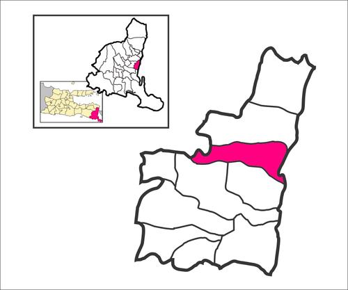 Blimbingsari Banyuwangi Wikiwand Peta Lokasi Desa Pantai Kab