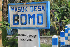 Bomo Blimbingsari Banyuwangi Wikiwand Batas Desa Watukebo Pantai Kab