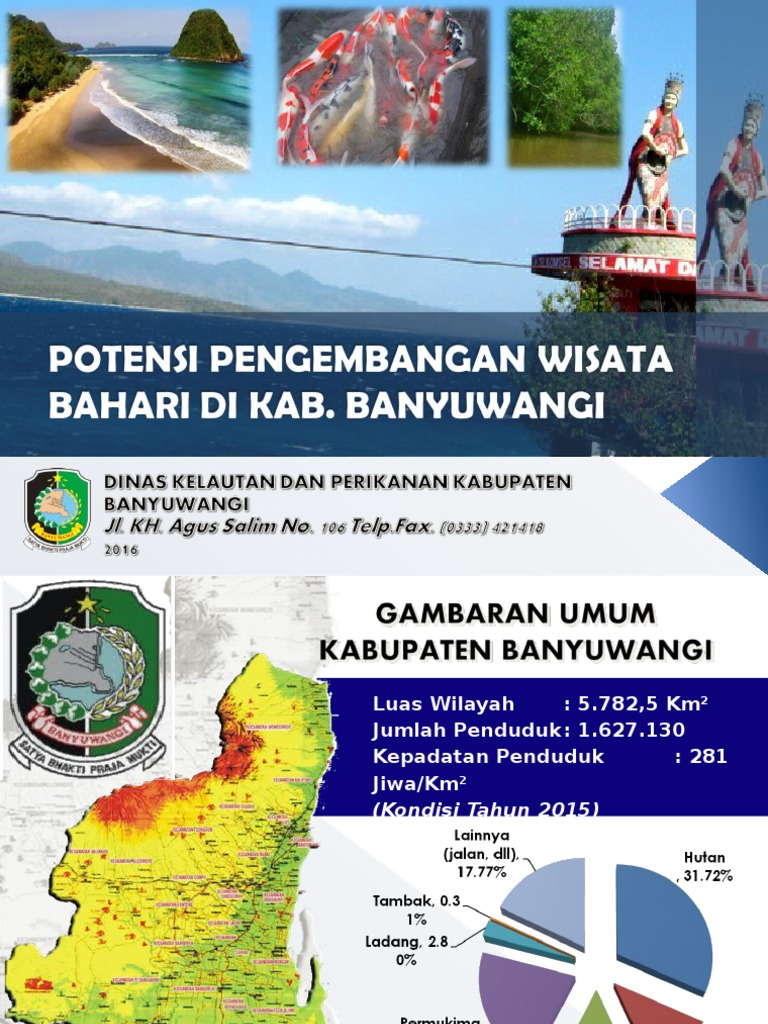 Potensi Pengembangan Wisata Bahari Kab Banyuwangi Jawa Timur Pantai Bomo