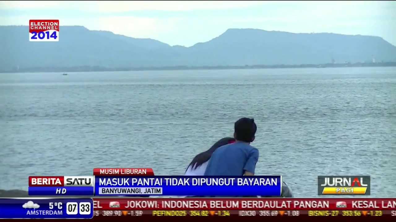 Pantai Boom Obyek Wisata Banyuwangi Berlatar Pulau Bali Youtube Kab