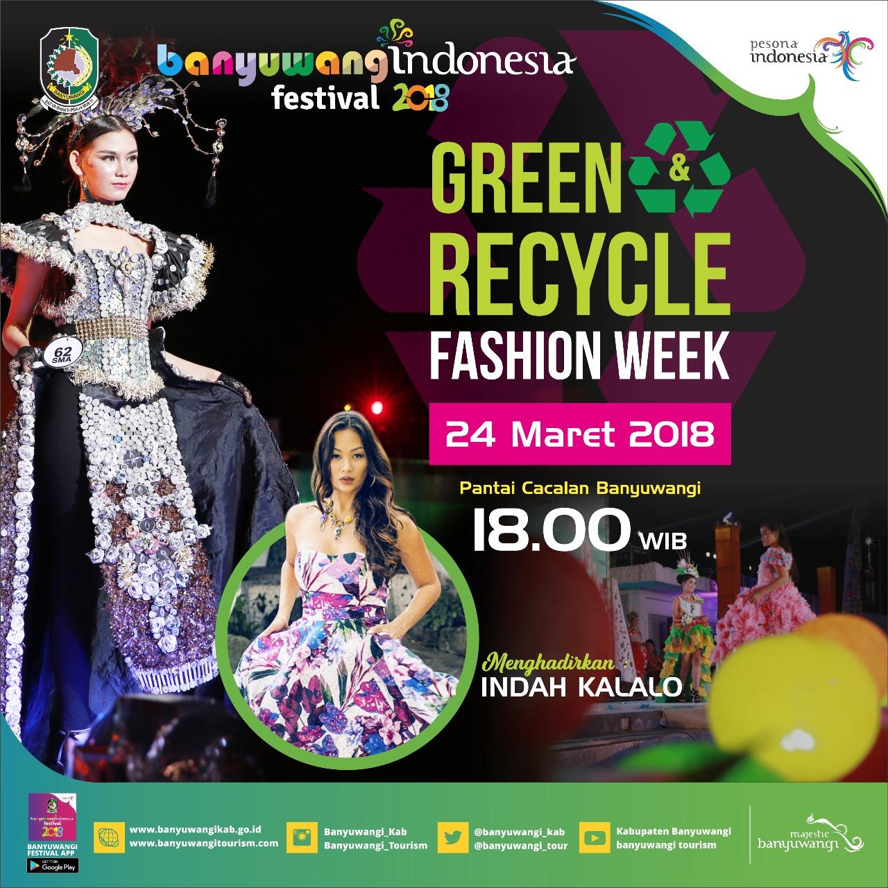 Green Recycle Fashion Week Banyuwangi Hadir Kembali Semanggi Pantai Cacalan