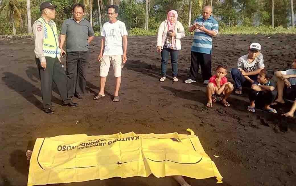 Temuan Mayat Pantai Cacalan Ternyata Warga Solong Tergeletak Jenazah Abdul