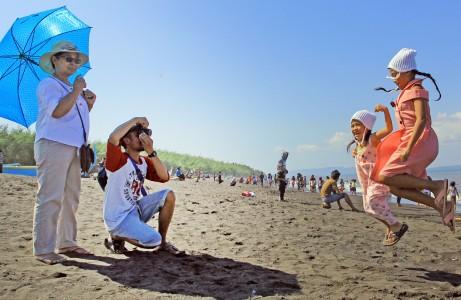 Keindahan Pantai Cemara Kota Banyuwangi Menikmati Kab
