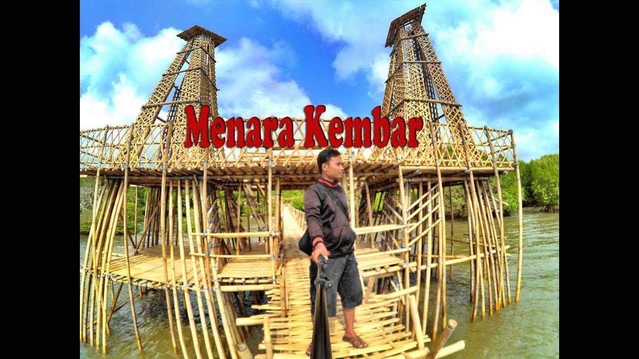Menara Kembar Pantai Cemara Mangrove Kawang Muncar Banyuwangi Kab